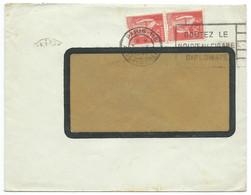 2 X 50c TYPE PAIX SUR ENVELOPPE A FENETRE / PARIS 116 1940 - 1921-1960: Moderne