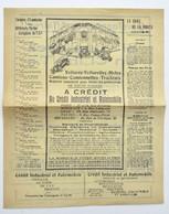 Pub Automobilia 1921 : Crédit Industriel Et Automobile, Paris / Moto Camion Tracteur Vélo - Cars