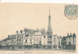 Cachet Convoyeur (45 - 91) Beaune La Rolande à Etampes Bloc Dateur Inversé Sur Carte Pithiviers Pour St Michel Sur Orge - Spoorwegpost