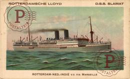 DSS SLAMAT  INDIE CIA MARSEILLE   ROTTERDAMSCHE LLOYD  BOAT SHIP BATEAUX BARCOS CARGO - Steamers