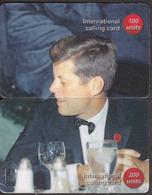 USA PRESIDENT JOHN F. KENNEDY 3 PUZZLE OF 6 PHONE CARDS - Personaggi