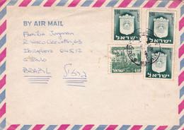 ISRAEL. ENVELOPPE CIRCULEE 1960's, PAR AVION. JERUSALEM A SAO PULO BRASIL.- LILHU - Covers & Documents