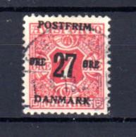 Danemark 1918, Timbres Journaux 1907 Surchargés, 89 Ob, Cote 210 € - Gebraucht