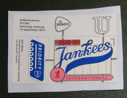 Nederland - NVPH Xxx 2015 - Gebruikt - Onafgeweekt - Cancelled On Paper - USA - Yankees - Priority - Internationaal - Used Stamps