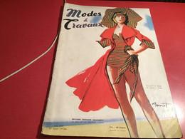 Modes Et  Travaux De Paris  1948 En L état Dessiné Par Brenot - Fashion