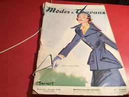 Modes Et  Travaux De Paris  1948 En L état Création Dessinée Par Brenot - Fashion