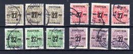 Danemark 1918, Timbres Journaux De 1915 Surchargés, 3x 95-97-98-99 Ob, Cote 102 € - Used Stamps