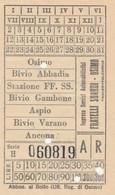 BIGLIETTO AUTOLINEE OSIMO ANCONA (MF1733 - Europa