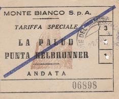 BIGLIETTO MONTE BIANCO LA PALUD (MF1735 - Tickets - Vouchers