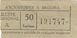 BIGLIETTO ASCENSORES A BEGONA SPAGNA (MF1739 - Tickets - Vouchers