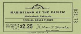 BIGLIETTO MARINELAND CALIFORNIA (MF1741 - Tickets - Vouchers