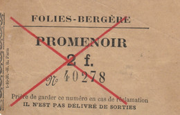 BIGLIETTO FOLIES-BERGERE FRANCIA (MF1742 - Tickets - Vouchers