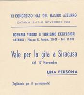BIGLIETTO CONGRESSO NASTRO AZZURRO (MF1743 - Tickets - Vouchers