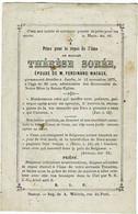 JAMBES - Thérèse SOREE - épouse F. Macaux - Décédée 1875 - Andachtsbilder