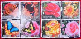Tajikistan  2012  Butterflies, Fauna Insects, Flowers  8v   MNH - Mariposas