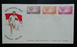 Indonesie 1958 FDC Thomas Cup Finale Badminton (onbeschreven Met Open Klep) - Indonesia