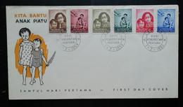 Indonesie 1958 FDC Voor De Weeskinderen (onbeschreven Met Open Klep) - Indonesia