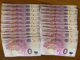 N.20 Zero Euro Souvenir Billet Zero Banknote 0 Euro Souvenir Di URBINO CITTA' DI RAFFAELLO - Private Proofs / Unofficial