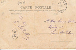 Tampon Boite Mobile BM Sur Carte D'Orléans Caserne Du 32e D'artillerie (cachet Orléans St Marceau) Pour Morée (41) 1907 - 1877-1920: Periodo Semi Moderno