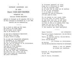 Henri Van Der Meiren (1933-1990) - Andachtsbilder