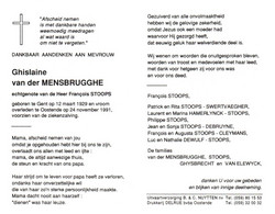 Ghislaine Van Der Mensbrugghe (1929-1991) - Andachtsbilder