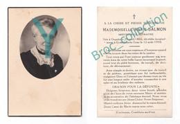 Ougrée, Combalin-la-Tour (Hamoir), Mémento De Mlle Marie Salmon, Institutrice, 12/08/1950, Souvenir Mortuaire, Décès - Andachtsbilder