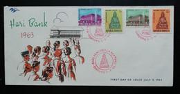 Indonesie 1963 FDC Dag Nationale Bank (onbeschreven Met Open Klep) - Indonesia
