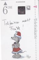 GERMANY - Christmas, Painting, Bärbel Haas/Telefonieren Macht Freude(A 23), Tirage 25000, 09/95, Mint - Natale