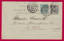 ENTIER SAGE 10 + N°75 LEVEE EXCEPTIONNELLE PARIS AV DES CHAMPS ELYSEES POUR PARIS INTRA MUROS - 1877-1920: Periodo Semi Moderno