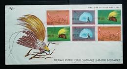 Indonesie - Irian Barat 1963 FDC Annexatie Van Irian Barat (onbeschreven Met Open Klep) - Indonesia