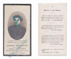 Namur, Tournai, Mémento De Joséphine Brasseur, Veuve Philippe Gueuning, 24/03/1918, 56 Ans, Souvenir Mortuaire, Décès - Andachtsbilder
