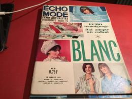 Cours De La Mode éco D'actualité Programme Radio TV Blanc 1965 Tenue  Professionnel Madame Le Premier Ministre - Fashion