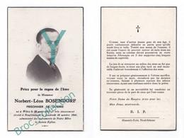 Witry, Neufchâteau, Mémento De Norbert-Léon Bosendorf, 18/10/1946, Ancien Prisonnier De Guerre, WW2, 34 Ans, Décès - Andachtsbilder