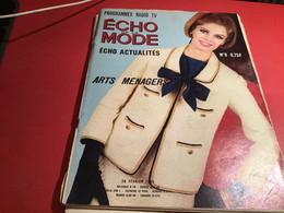 Echo De La Mode D'actualité Programme Radio TV Blanc 1965  Reportage Chez Les Dayak Coupeur De Têtes Borneo Les Indiens - Fashion