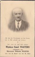 Emiel WAUTERS °1888 Waasmont †1957 - Echtg. Sidonie SIAENS (F98) - Obituary Notices