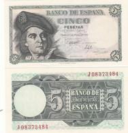 CRBS0303 BILLETE ESPAÑA 5 PESETAS 1948 SIN CIRCULAR 25 - Other