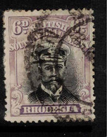 RHODESIA 1913 6d Black And Dull Mauve SG 266 U #BAD6 - Other