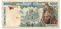 Afrique De L Ouest  -  5000 Francs 1999  -  Signature 29  -  état  B - West African States