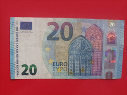 20 EURO FRANCIA(EA), E002A1,first Position, DRAGHI - 20 Euro
