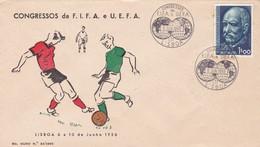 CONGRESSOS DA F.I.F.A. E U.E.F.A., LISBOA 1956. FUTBOL FOOTBALL. PORTUGAL SPC ENVELOPPE.- LILHU - Championnat D'Europe (UEFA)