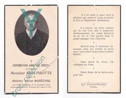 Jehay-Bodegnée, Tihange, Mémento D' Alfred Pirotte, époux De Jeanne Maréchal, 15/01/1951, 72 Ans, Décès, Deuil - Andachtsbilder