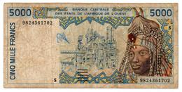 Afrique De L Ouest  -  5000 Francs 1998  -  Signature 28  -  état  B - West African States