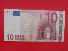 10 EURO FRANCIA (U) L029A1 First Position, TRICHET - 10 Euro
