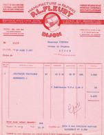 1957 / Facture FLEURY / Manufacture De Papiers / Fabrique Sacs, Boîtes Pliantes En Carton / 21 Dijon - 1950 - ...