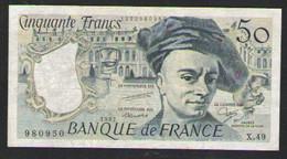 FRANCE 50  FRANCS     1987   XF+ - 50 F 1976-1992 ''Quentin De La Tour''