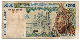 Afrique De L Ouest  -  5000 Francs 1999  -  Signature 29  -  état  B  - Mali - West African States