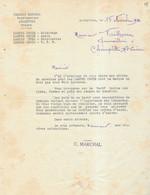 1939 / Courrier MARCHAL Représentant Lampes Croze, Yvel, Dario (TSF) / 88 Archettes Vosges - 1900 – 1949