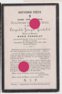 SOY 1904 Décès De Léopold Joseph GRIDELET époux De Marie PONCELET  Imprimé à Erezée - Obituary Notices