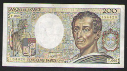 FRANCE  200  FRANCS     1989 - 200 F 1981-1994 ''Montesquieu''
