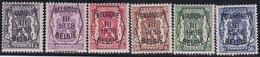 Belgie   .  OBP  .    PRE 345/350     .   **  .   Postfris . / .  Neuf Avec Gomme Et Sans Charnière - Typo Precancels 1936-51 (Small Seal Of The State)